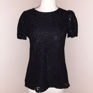 NWT Express Lace Poof Shoulder Blouse